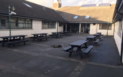 New Seating for 1st Year Court Yard