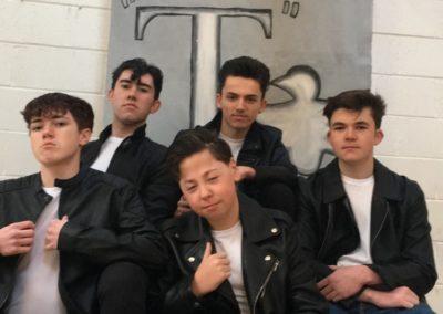 "Ryan Conroy (Sonny), Stephen O""Toole (Kenickie), Darragh Butler (Danny), Jack McEvoy (Roger) & Christopher Buckley (Doody)"