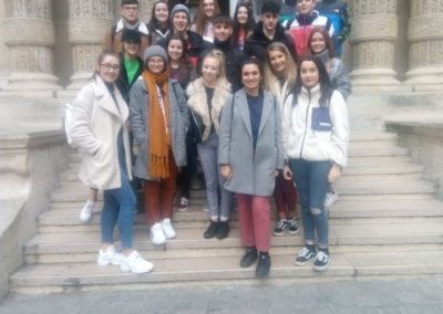 Outside the L'Ecole Massillon Paris 14/1/19