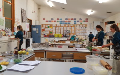 3rd Year Home Economics students busy preparing for their upcoming Food Skills & Culinary Exam