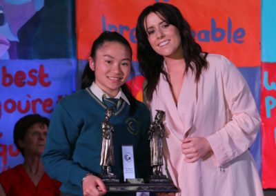 25. State Examinations Award - Junior Cert winner Leah Savage with special guest Stephanie Rainey