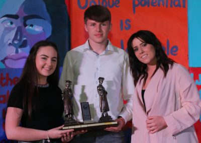 26. State Examinations Award - Leaving Cert winners Jade Lagrue and James Walshe with special guest Stephanie Rainey