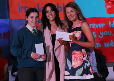 8. Gaeilge Scholarships - Caragh Fitzgerald and Olivia Cowhie with special guest Stephanie Rainey
