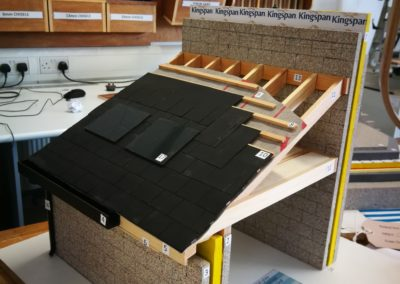 Lean to roof model with solar panels