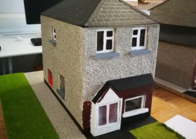 Scale model of semi-deatached home