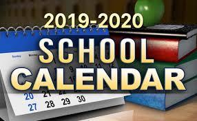 GCC Calendar for the 2019/2020 School Year