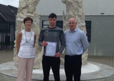 Conor Crowley, Principal Ronan McCarthy and Deputy Principal Gertie Cahill