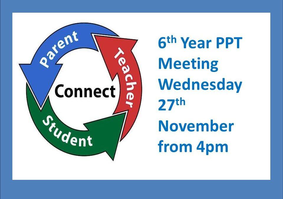 6th Year Parent-Pupil-Teacher Meeting