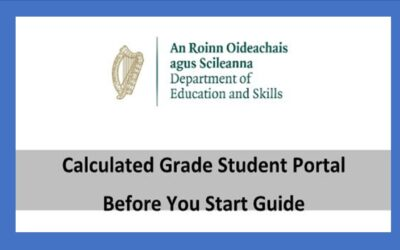 Calculated Grades Student Portal for Leaving Certificate 2020