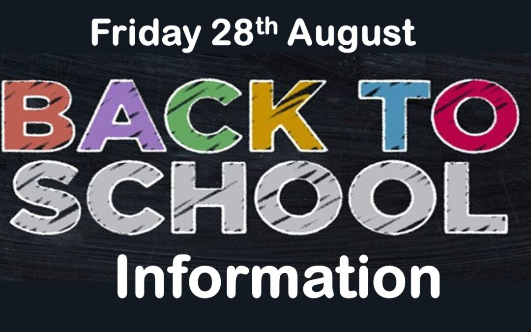 GCC School Update for Parents/Guardians Friday 28th August