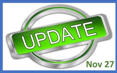 Parents/Guardians Update Friday 27 November 2020