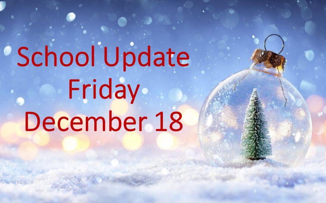 Parents/Guardians Update Friday 18 December 2020