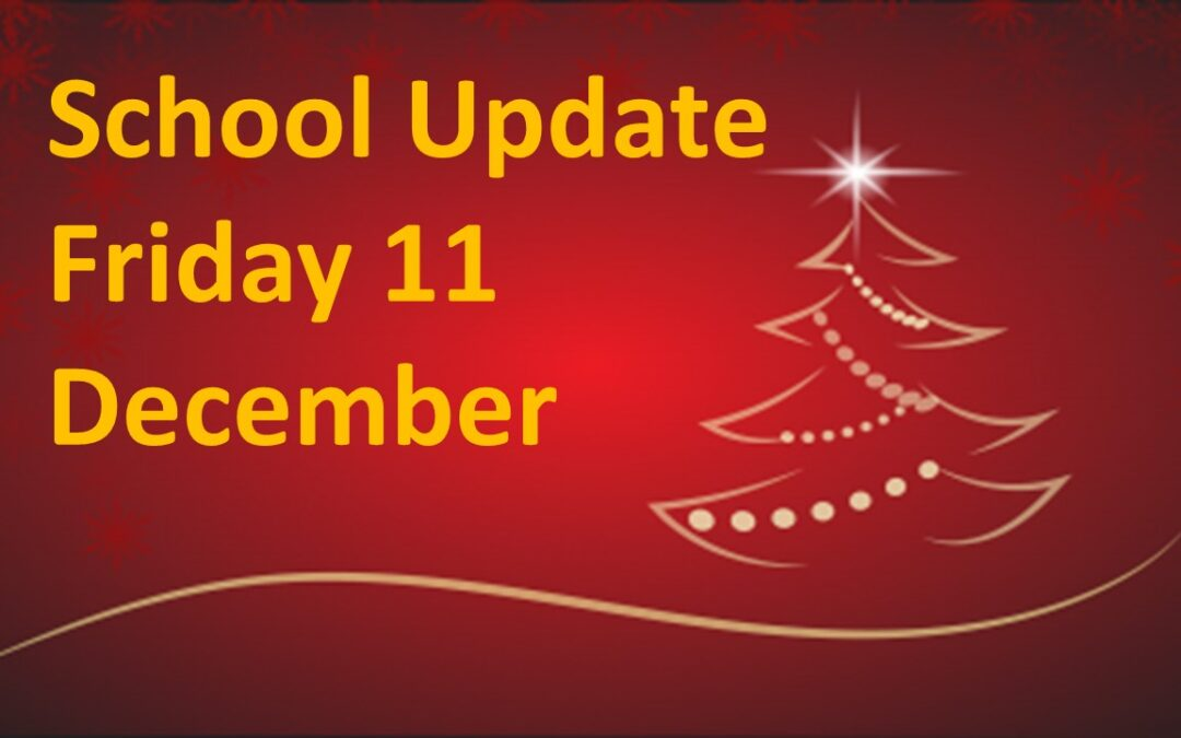 Parents/Guardians Update Friday 11 December 2020