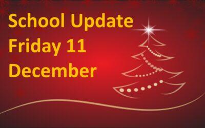 Parents/Guardians Update Friday 11 December 2020