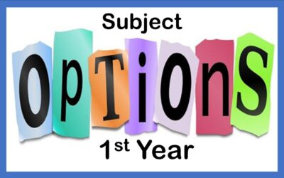 1st Year Options Evening deferred until January 2021