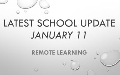 Latest School Update Monday 11 January 2021