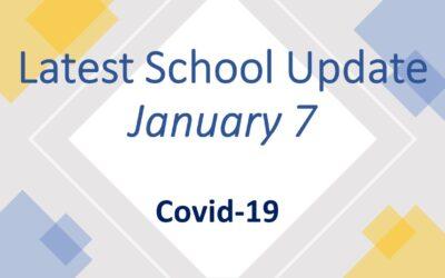 Latest School Update Thursday January 7