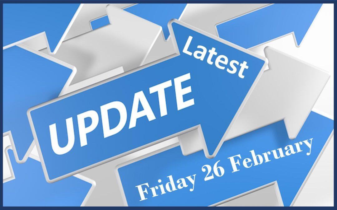 Latest School Update Friday February 26