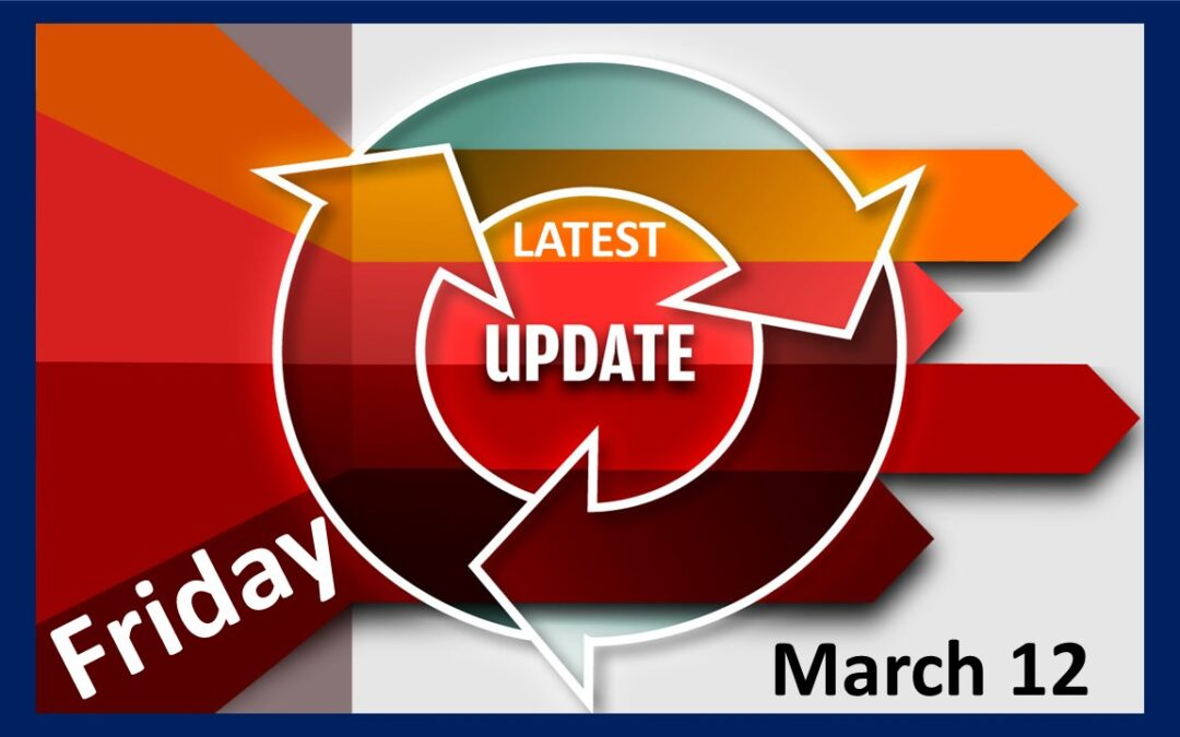 Latest School Update Friday March 12