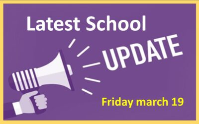 Latest School Update Friday March 19