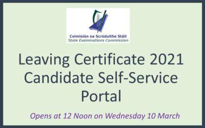 Leaving Certificate Candidate Self-Service Portal