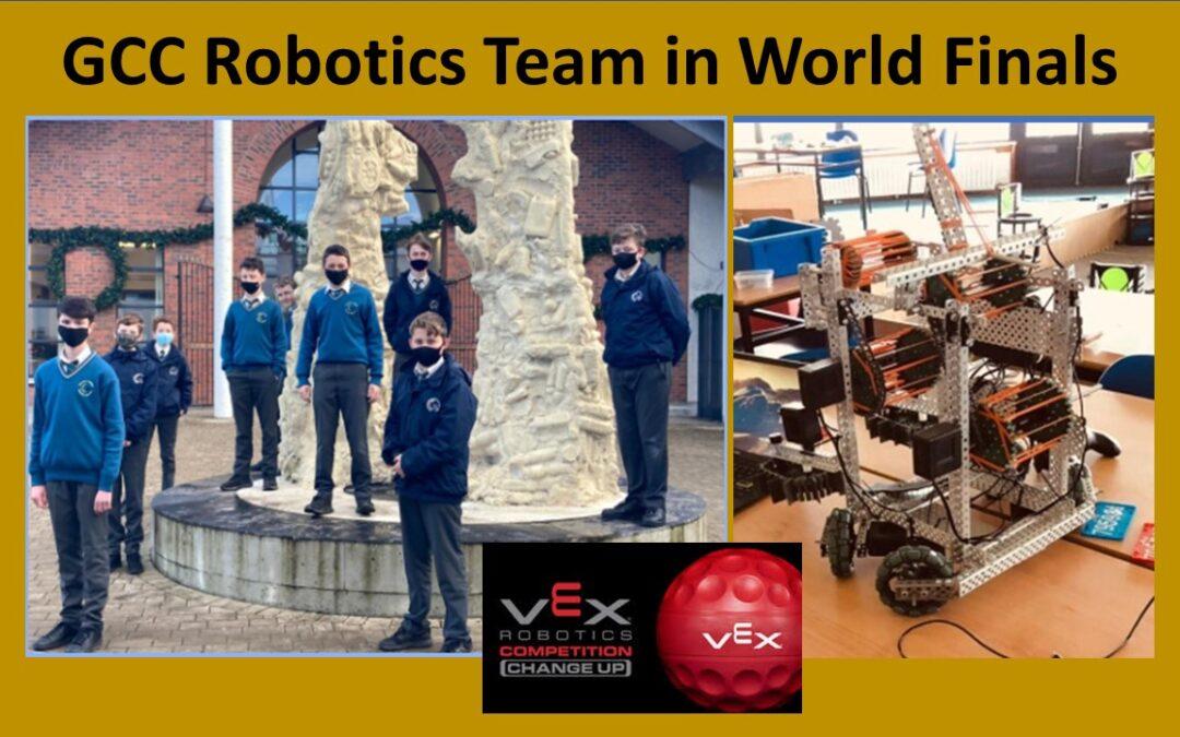 GCC Students Team Qualify for Vex Robotics World Finals