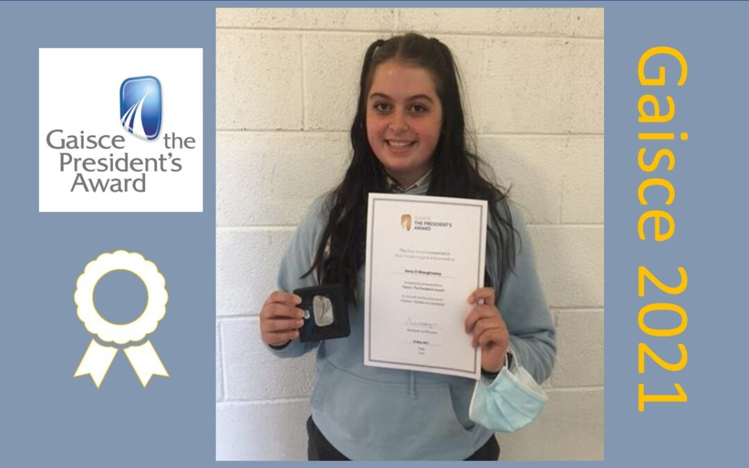 GCC TY Student Receives Silver Gaisce Award