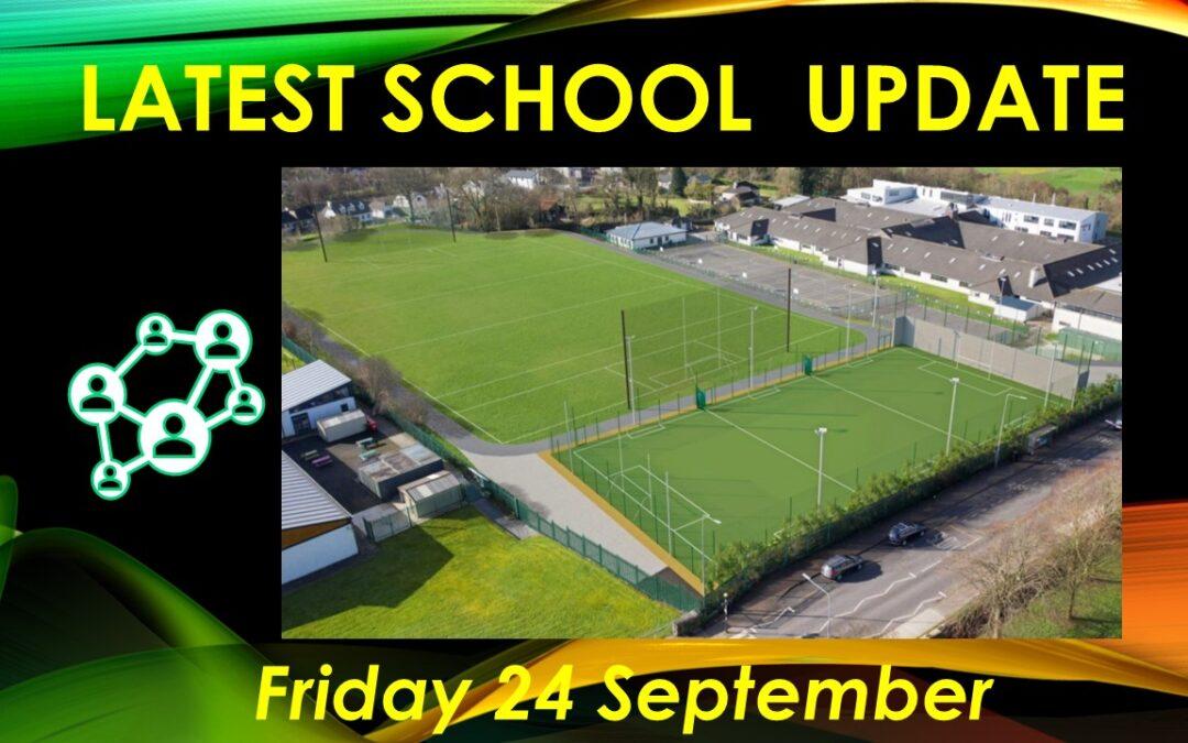 Latest School Update Friday 24 September 2021