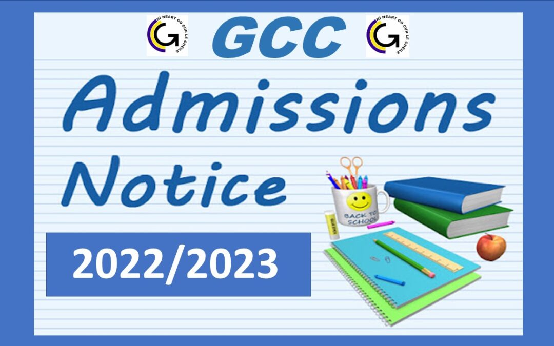 Glanmire Community College Admissions Notice 2021/2022