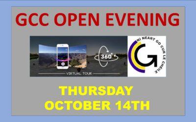 GCC Open Evening – Thursday 14 October